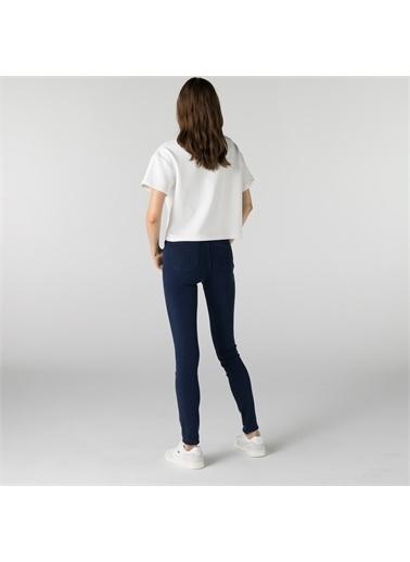 Lacoste Lacoste Kadın Slim Fit Mavi Denim Pantolon Mavi